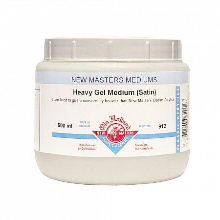 New Masters, 912 Heavy Gel Medium Satin - 500ml