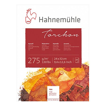 Hahnemuhle Torchon, block 275g, 20 ark, rough - 24x32cm