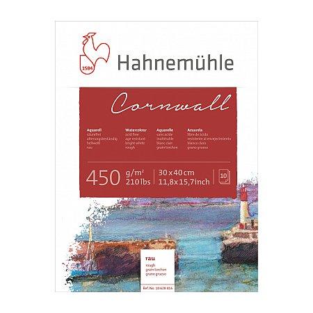 Hahnemuhle Cornwall, block 450g,10 ark, rough - 30x40cm