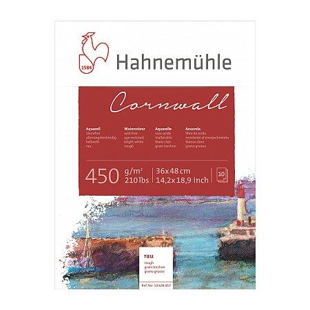 Hahnemuhle Cornwall, block 450g,10 ark, rough - 36x48cm