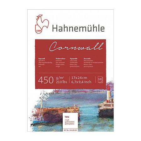 Hahnemuhle Cornwall, block 450g,10 ark, rough - 17x24cm